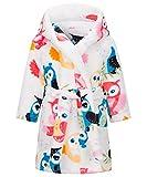 Happy Cherry Robe de Nuit Polaire Enfant Robe de Chambre Hiver Enfant Robe de Chambre à Capuche Garçon Fille Serviette de Bain Enfant Fille Garçon Pyjama de Nuit en Polaire Enfant 7-8 Ans