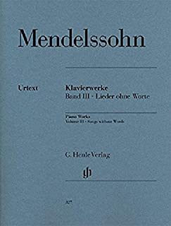 Mendelssohn: Songs without Words Volume III (English, French