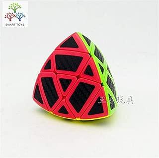 FangGe Black Carbon Fiber Sticker Tetrahedron Magic Cube 74mm ZongZi Puzzle Cube for Challenge