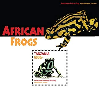 2015 African Frogs, Collectible Souvenir Stamp, Mint Never Hinged
