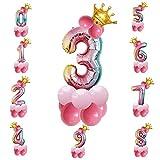 SVZIOOG 32 inch gradient color digital crown birthday party aluminum balloon 0-9 (3)