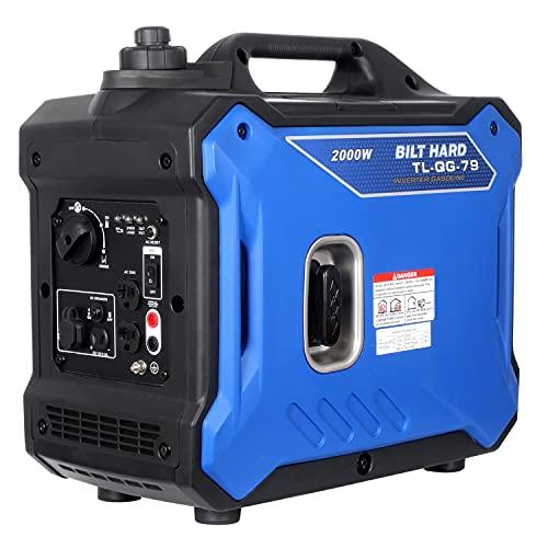 BILT HARD Portable Inverter Generator 2000 Watt, Super Quiet Outdoor Generator, Gas Powered, for RV Camping Travel Home Emergency, EPA & CARB Compliant