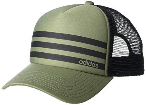 adidas Men's Linear 3-Stripe Trucker Cap, Legacy Green/Black, ONE SIZE