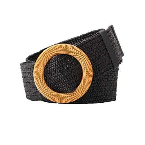 BeltKings Cinturón ancho de paja para mujer, cinturón con hebilla Rojoonda, cinturón decorativo para...
