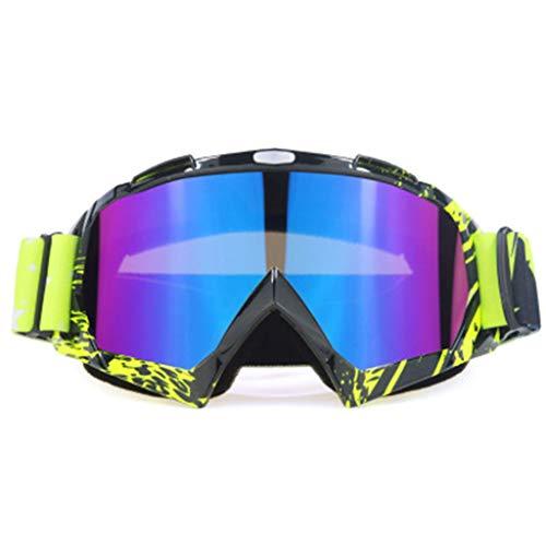 XINGYUE Gafas de motocicleta, Deportes de esquí Gafas de snowboard, ATV Dirt Bike Off Road Racing MX Gafas de equitación antiarañazos, a prueba de polvo, doblables UV400