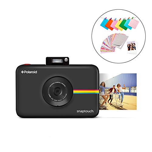 Zink Polaroid SNAP Touch 2.0  13MP Portable Instant Print Digital Photo Camera w/ Built-In Touchscreen Display, Black