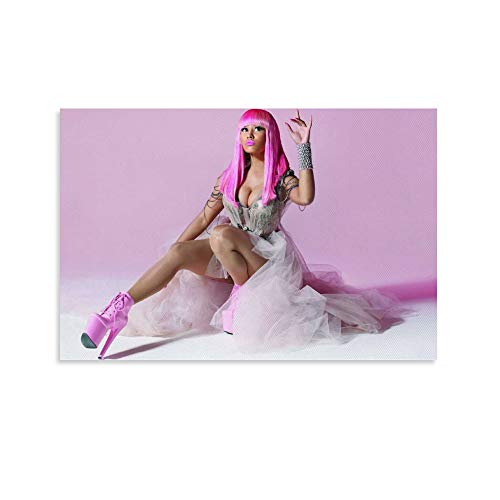 OIUER Nicki Minaj - Póster artístico de Barbie negra y arte de pared, impresión moderna para decoración de dormitorio familiar (20 x 30 cm)