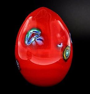 Scultura Collection Huevos Rojo Murrine Cristal de Murano Made in Italy