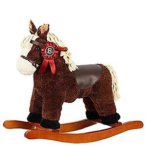 Rocking Chair Baby Rocking Horse Wooden, Plush Rocking Horse Toy, Rocking Horse For Baby 1-3 Years, Child Rocking Horse/Baby Rocker Bule/Animal Rocker/Nursery Rocking Horse/Baby Rocker Seat Rocking Ri