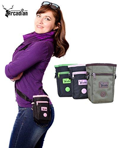 Arcadian Premium Hundeleckerli-Tasche verstellbarem Taillengürte
