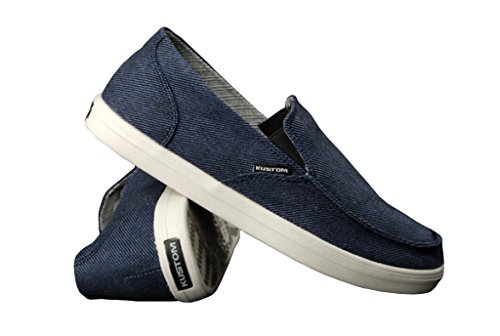 Kustom Schuhe Neutral Navy Twill Sneaker US7/EU39