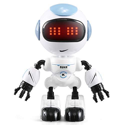DBXMFZW Robot Robot Sensible al Tacto LED Luz Inteligente Inteligente Educación Earra Interactiva Juguetes educativos para niños DIY Posando Regalos de Robot para niños y niñas (sin Control Remoto)