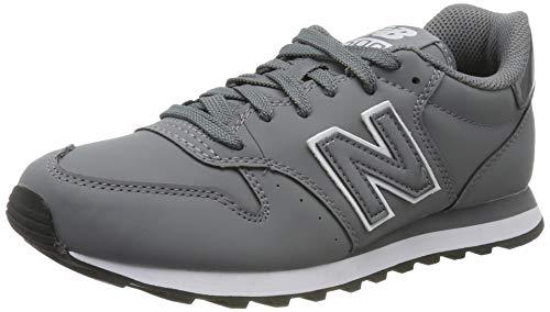New Balance Damen 500 Sneaker, Grau (Grey/White Grey/White), 37 EU