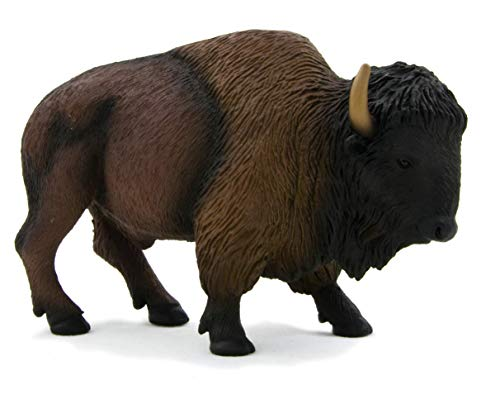 MOJO American Buffalo Bison Realistic International Wildlife Hand Painted Toy Figurine