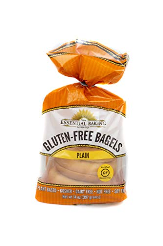 Essential Baking Company The Gluten Free Certified, Plain, Gluten-Free Bagels, Plant Based, Kosher, Dairy Free, Nut Free, Soy Free,, 14Count (Pack Of 6)