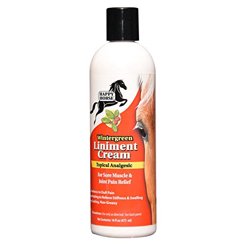 HARRIS Happy Horse Liniment, Wintergreen Cream for Sore Muscle & Joint Pain Relief, 16oz