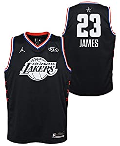 Outerstuff Lebron James Los Angeles Lakers #23 Youth All Star Jersey Black (Youth Medium 10/12)
