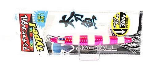 JACKALL(ジャッカル) メタルジグ ルアー アンチョビメタル タイプ1 130g ピンク/グローストライプ
