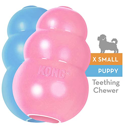 KONG - Puppy Toy - Natural Teething Rubber -...