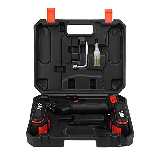 SDLSH Suministros de jardinería para Hombres Cizallas eléctricas sin Cable de 88V, cortadora de Rama Secateur Secateur de 30mm MAX Garden Pruner con 2 batería de Litio para jardinería, hogar