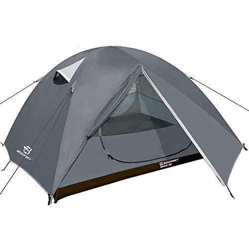 Bessport Outdoor Camping Zelt Camouflage 3 Personen Dome Wasserdicht Wandern Kuppelzelt Einfach für TrekkingZelte Sofortiges Aufstellen Kuppelzelt
