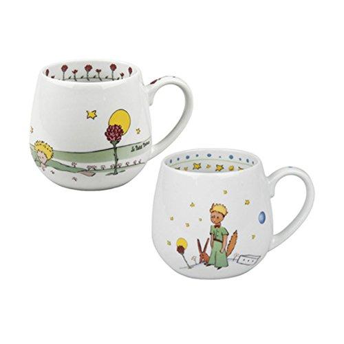 Könitz - Juego de 2 tazas de café (porcelana, 420 ml), diseño de El Principito