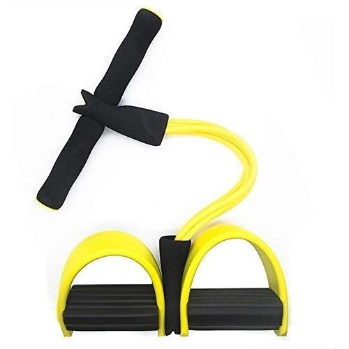Elastico Extensor 4 tubos Academia Casa abdominal cordas Pilates Tonificação exercicio Intensidade