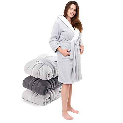 Twinzen Unicorn Kids Dressing Gown Girls and Boys 100/% Cotton Hooded Bathrobes and Dressing Gowns for Children with Unicorns Free from Chemical Products Oeko TEX