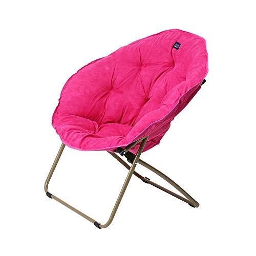 XinQing-sofá Perezoso Silla Plegable Silla abatible Silla Perezosa Silla de Estar Oficina Exterior Silla portátil Material de Gamuza 85 × 70 × 82 cm (Color : Pink)