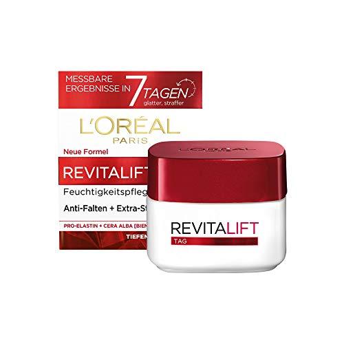 L'Oréal Paris Tagespflege, Revitalift, Anti-Aging Gesichtspflege, Anti-Falten und Extra-Straffheit, Pro-Elastin und Bienenwachs, 50 ml