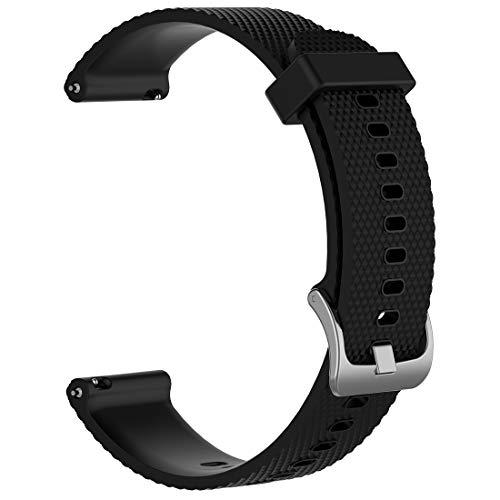 Disscool - Cinturino di ricambio per Polar VANTAGE M, in silicone morbido, per smartwatch Polar VANTAGE M, colore: Nero