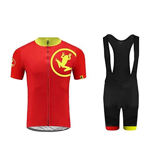 BurningBikewear Uglyfrog Ciclismo Maillot, Hombres Jersey + Pantalones Cortos Babero Mangas Cortas...