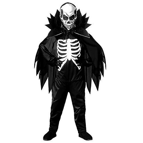 Widmann-Skeleton Scheletro Costume Mantello Con Collare Maschera Taglia 128 Cm 880 per Bambini, Multicolore, 5-7 Anni, 8003558384464