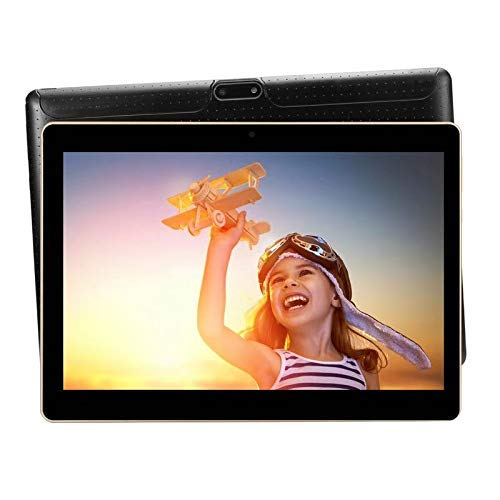 Android Tablet 10 inch with Sim Card Slots 4GB RAM 64GB ROM Octa Core 3G Unlocked GSM Phone Tablet PC Built in WiFi Bluetooth GPS (Black)