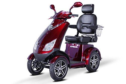"""E-Wheels - EW-72 Heavy Duty Scooter - 4-Wheel - 18.5""""W x 17""""D - Red"""