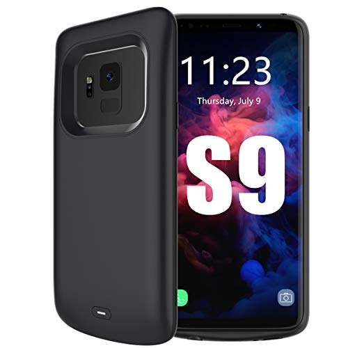 Beseller Upgrade Battery Case for Galaxy S9, 4700mAh External Battery Charger Rechargeable Battery Pack Protective Case for Samsung S9 (Black)