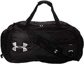 Under Armour Undeniable Duffle 4.0 Gym Bag, Black (001)/Silver, Medium
