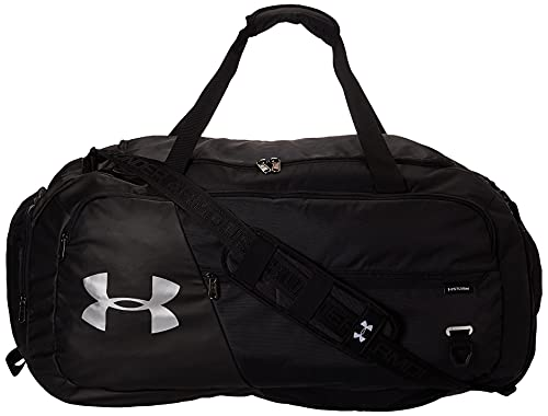 Under Armour Undeniable Duffle 4.0 Gym Bag, Black (001)/Silver, Large