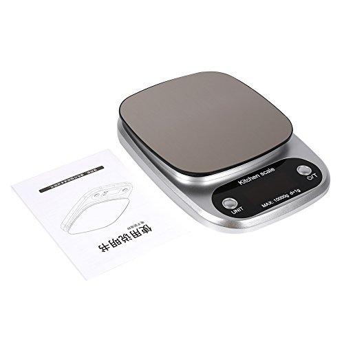 Denkerm Báscula electrónica para Alimentos de Alta precisión, báscula para Alimentos de Cocina, Acero Inoxidable para el Restaurante de la Tienda de Frutas del hogar del Hotel