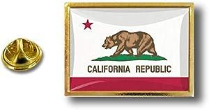 Akacha Spilla Pin pin's Spille spilletta Bandiera Badge USA Americana California