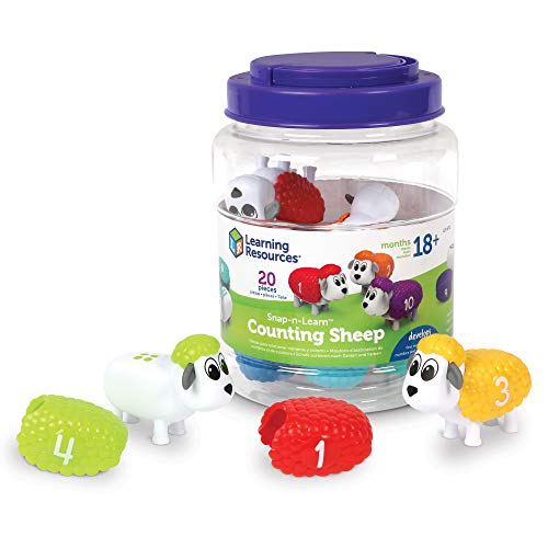 Learning Resources Snap-n-Learn Counting Sheep, Fine Motor, Counting & Sorting Toy, Easter Basket Toy, Ages 18 mos+ JungleDealsBlog.com