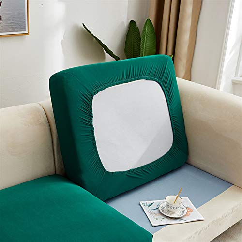 Color de Color Liso Sofá Sofá Cojín de cojín Sofá Cubiertas para Sala de Estar Tapa de Silla de Asiento elástica removible Protector de Muebles (Color : Color 1, Specification : 1PC XL 165 200cm)