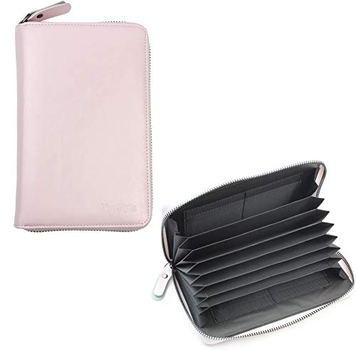 通帳ケース マルチケース 磁気遮断 RFID防止 現金 カード 通帳入れ くすり手帳ケース 通院ケース パスポート (ローズドラジェ)