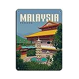 Vintage Retro Reise Poster Malaysia Retro Poster Metall