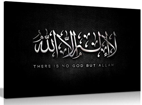 Kunstdruck auf Leinwand, arabische islamische Kalligraphie, moderne abstrakte Religion, 76,2 x 50,8 cm