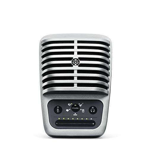 SHURE MV51-DIG Color Plata, Micrófono digital de condensador