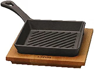 PADERNO - Grill Pan Cm 16x16 With Stand Cast Iron