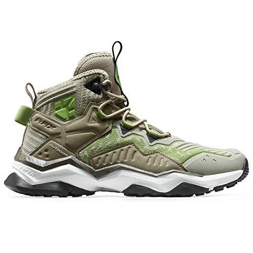 RAX Men's Jungle Wolf Waterproof Hiking Boot Camping Backpacking Shoe (10.5 US) Khaki