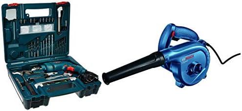 Bosch GSB 500W 10 RE Professional Tool Kit, MS & Plastic (Blue, Set of 100 Tools)