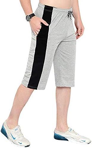 Men s Cotton 3 4 Capri Regular Shorts